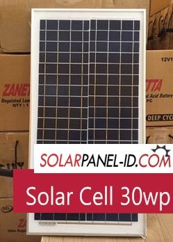 harga solar panel 30w