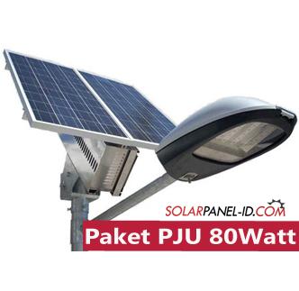 jual paket pju panel surya 80 watt