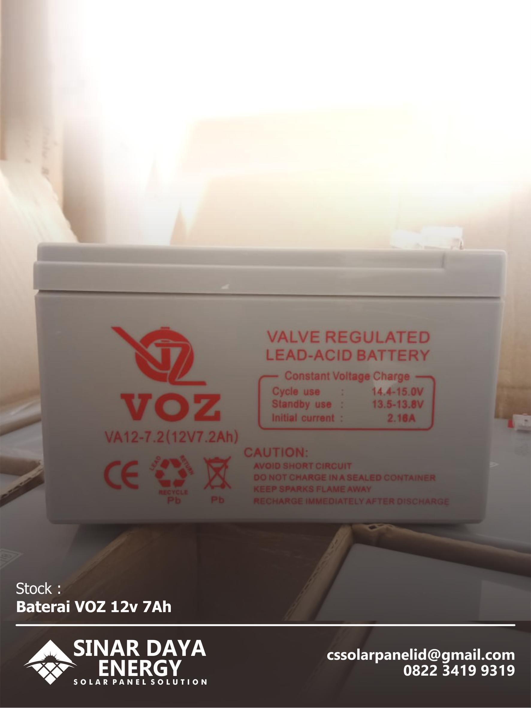 Voz Aki Kering 6v 7 Ah Daftar Harga Termurah Terkini Dan Battery Ups Merk Ical 12v 72ah Original Vrla Agm