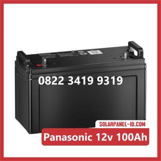 Panasonic baterai kering 12v 100Ah baterai panel surya