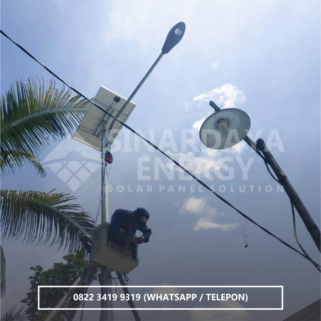 distributor lampu pju tenaga surya kendari sulawesi tenggara