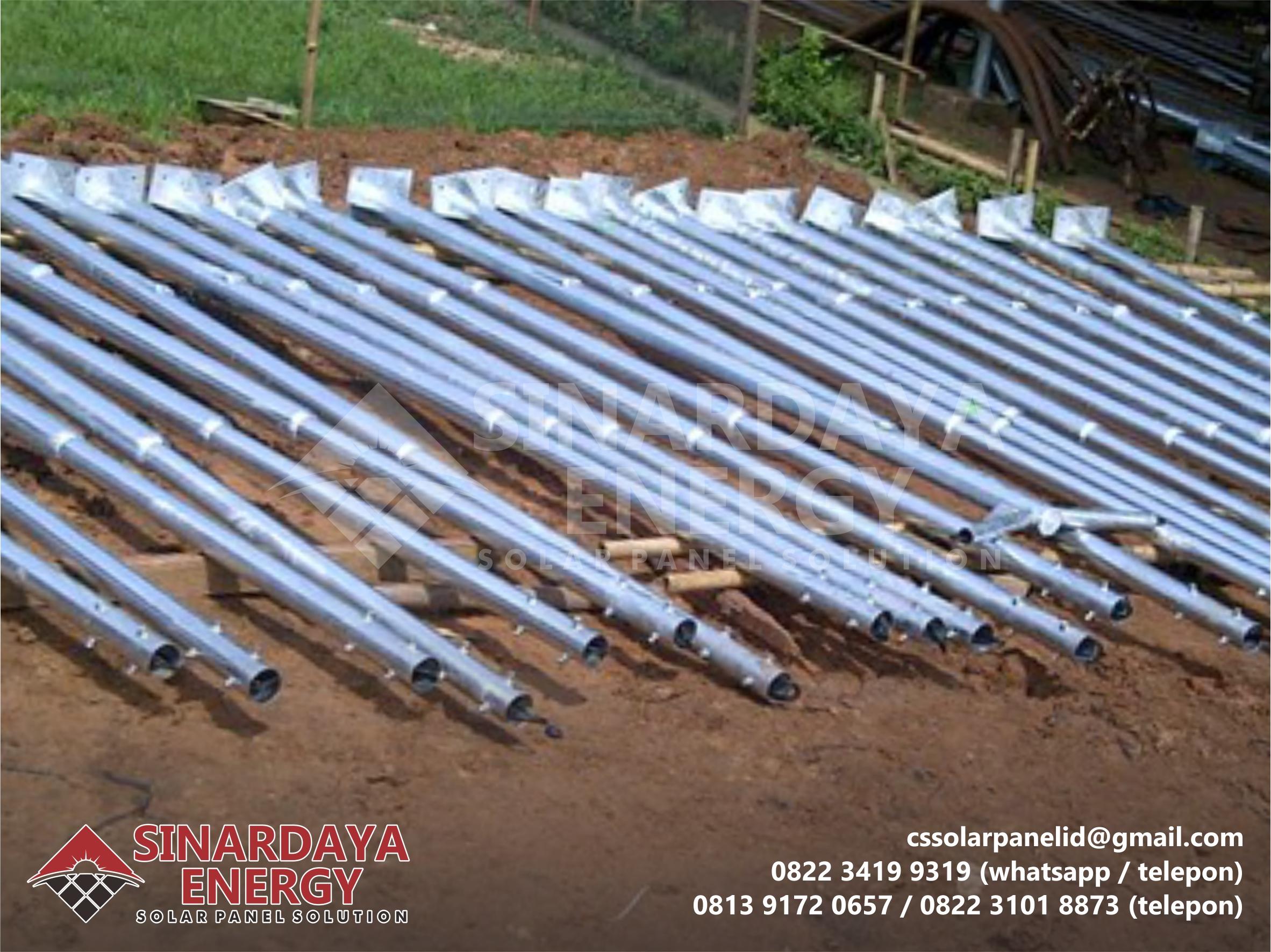 Pabrikasi Tiang PJU Galvanis 7 Meter Oktagonal Sumatera Selatan