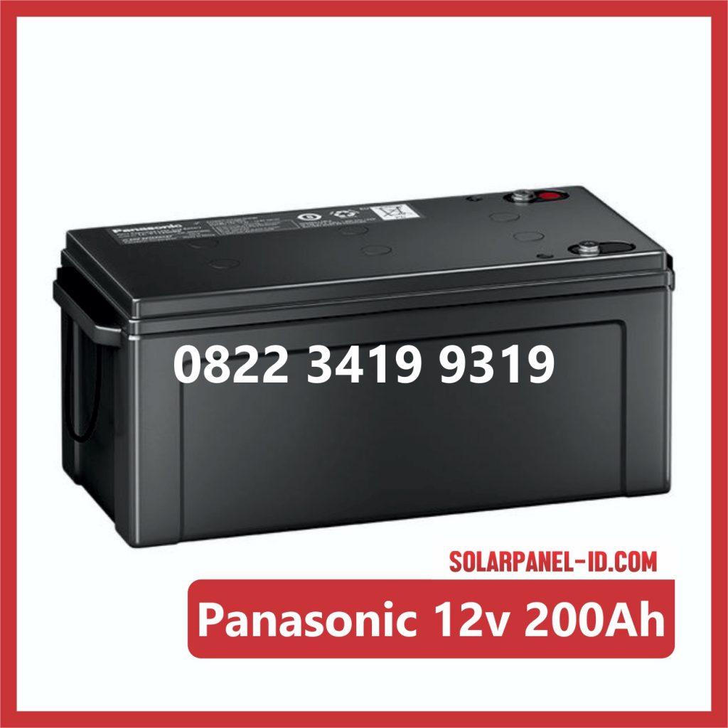 Panasonic baterai kering 12v 200Ah baterai panel surya