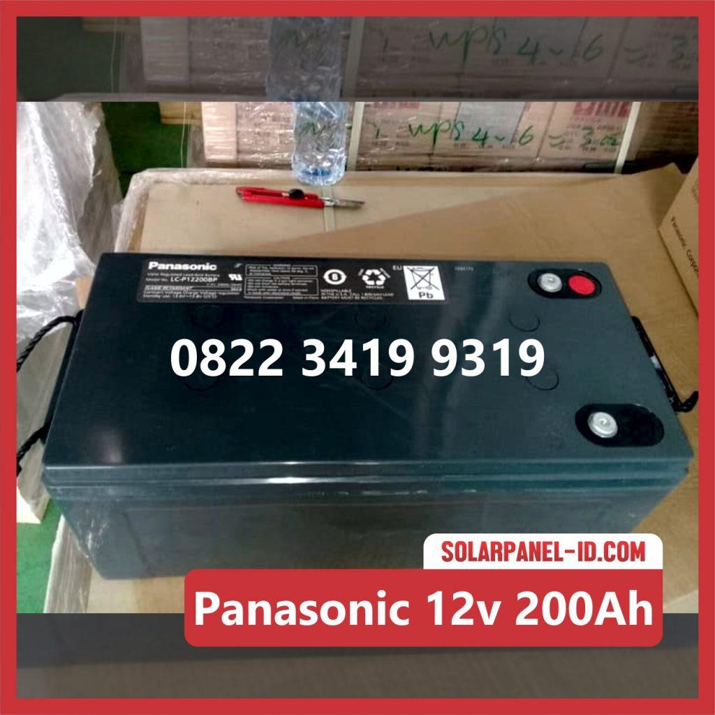 Panasonic baterai kering 12v 200Ah baterai pju tenaga surya