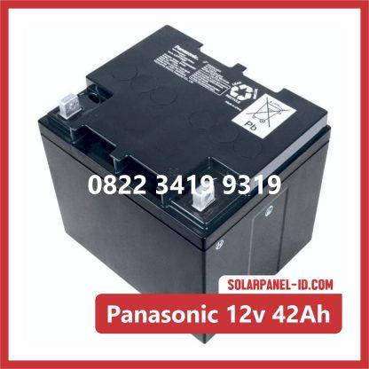 Panasonic baterai kering 12v 42Ah baterai solarcell