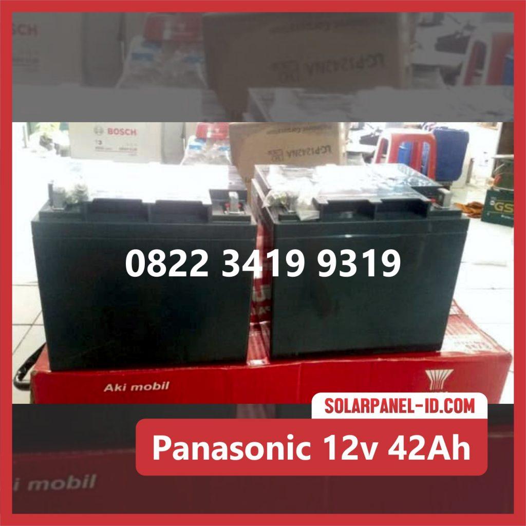 Panasonic baterai kering 12v 42Ah baterai pju tenaga surya