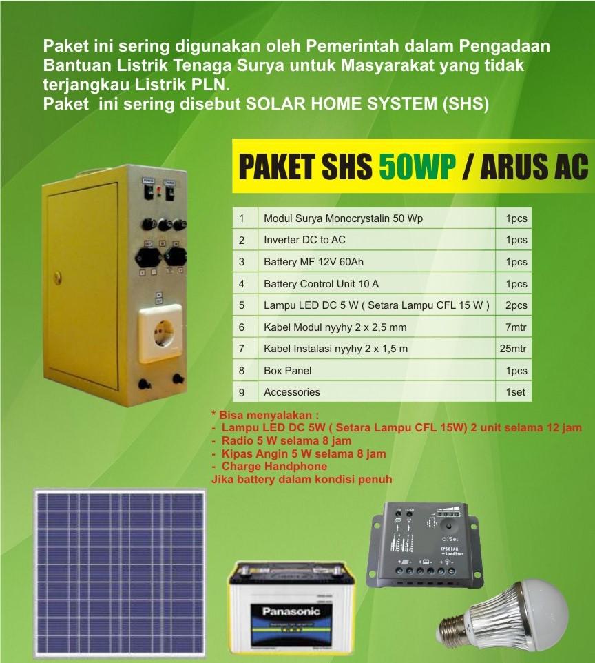 Harga Solarpanel SHS Solar Home System