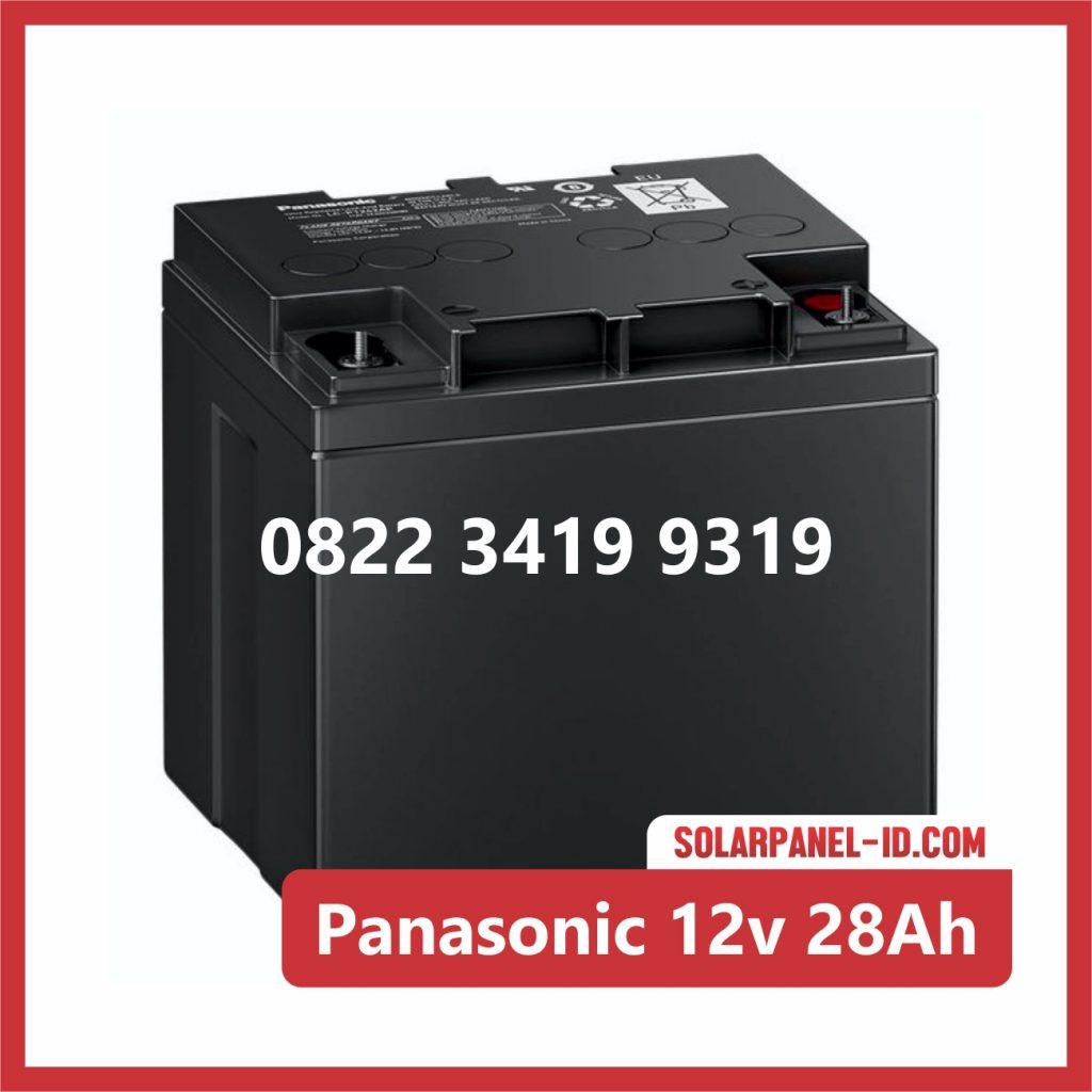 Panasonic baterai kering 12v 28Ah baterai emergency