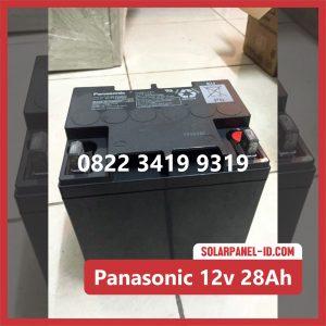 Panasonic baterai kering 12v 28Ah baterai solarcell