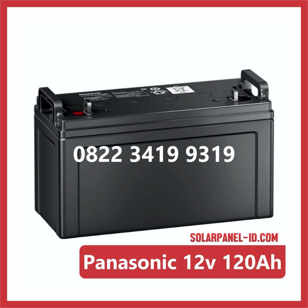 Panasonic baterai kering 12v 120Ah baterai panel surya
