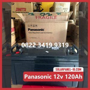 Panasonic baterai kering 12v 120Ah baterai pju tenaga surya