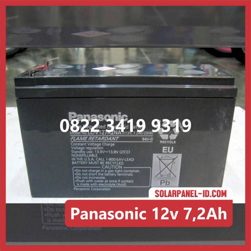 Panasonic baterai kering 12v 7,2Ah baterai solarcell