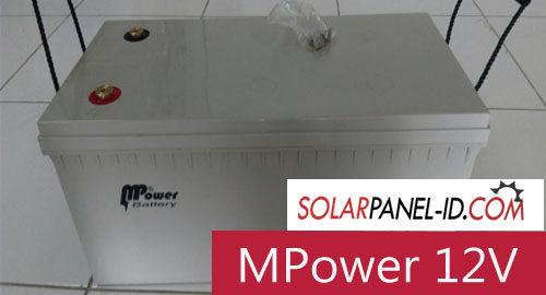 Baterai Panel Surya MPOWER VRLA GEL 12V 200Ah