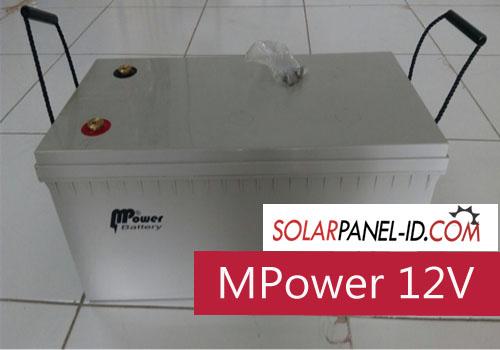 harga baterai panel surya mpower
