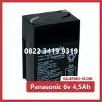 Aki Solar Cell Panasonic 6v 4,5Ah