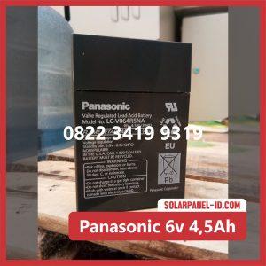 Panasonic baterai kering 6v 4,5Ah baterai panel surya