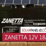 Aki Kering SHS Solarcell ZANETTA 12V 18Ah