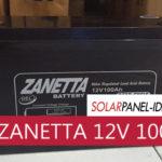 Baterai PJU ZANETTA 12V 100Ah