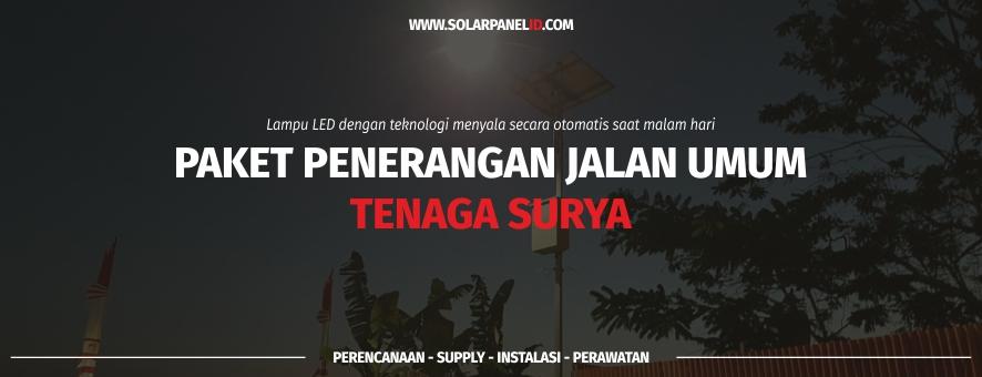 daftar harga lampu jalan tenaga surya solarcell satu set murah makassar sulawesi selatan