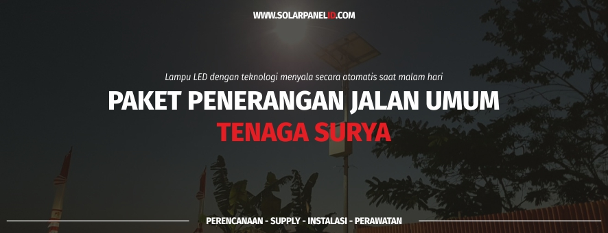 Harga lampu jalan tenaga surya Ketapang Kalimantan