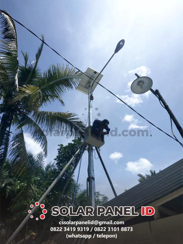 Harga PJU Solarcell kupang NTT Satu set
