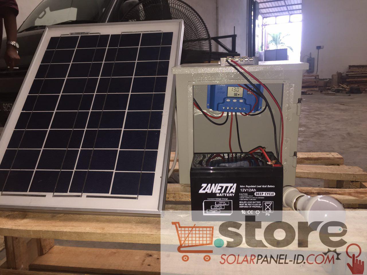 jual paket shs 20WP Untuk Penerangan rumah Tenaga Surya