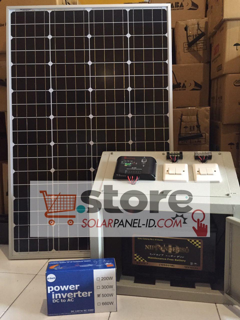 Paket Penerangan Rumah SHS 50WP Solarcell Tenaga Surya