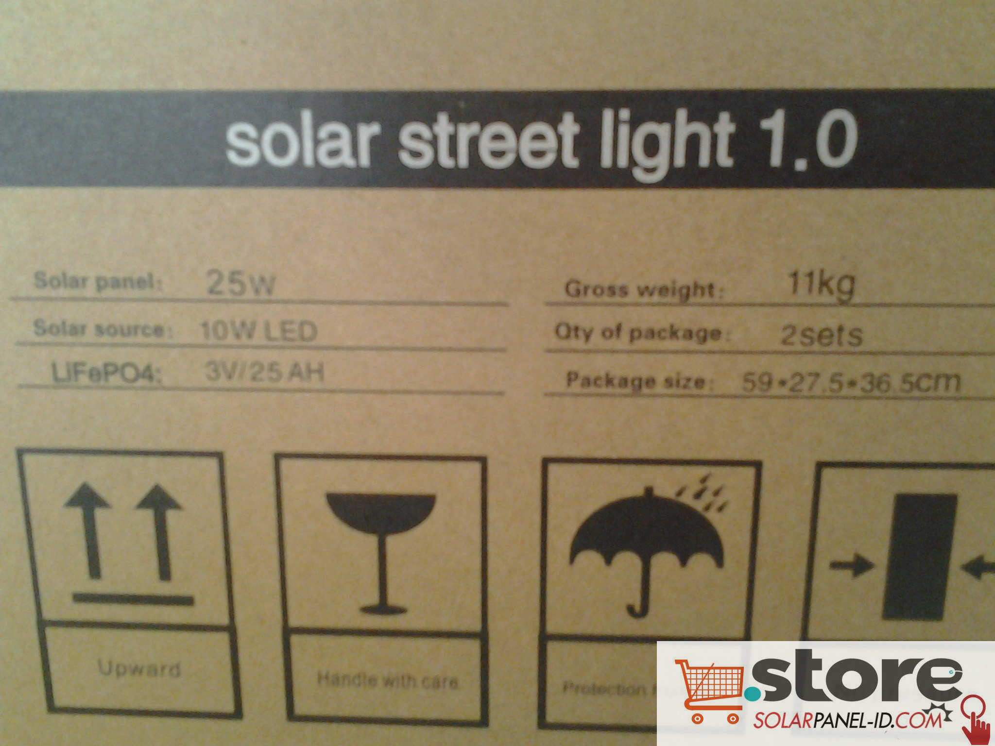 jual panel surya Solar Light Blue Carbon