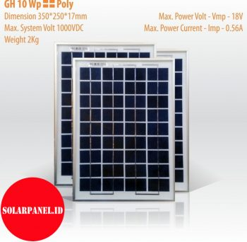 Jual Solar panel 10 wp poly
