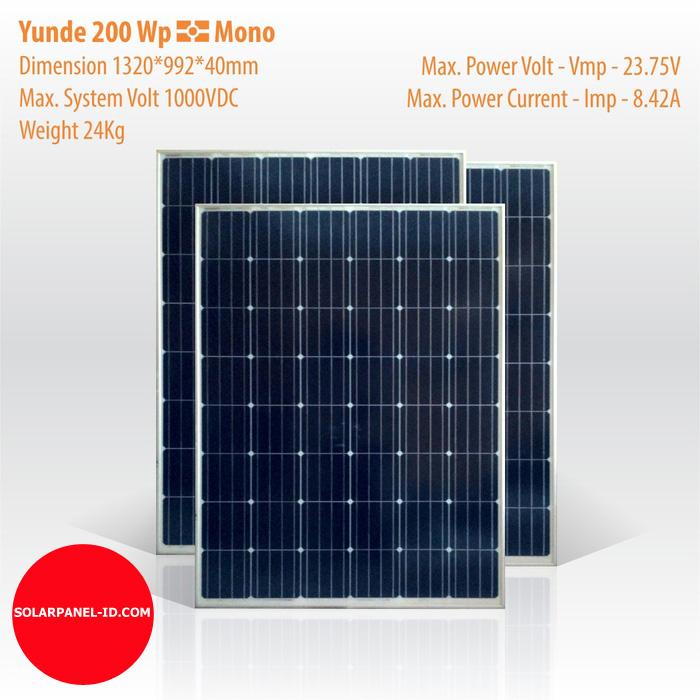 Solar Panel – Yunde 200 Wp, Mono