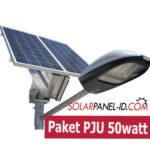 Jual Paket PJU Solarcell Surya LED 50Watt
