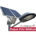 Jual Paket PJU Panel Surya 80Watt