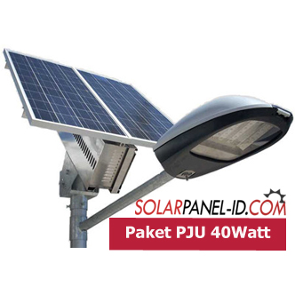 jual paket pju solar panel led 40watt