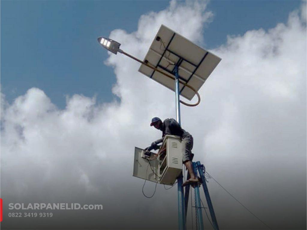 jual paket pju solarcell 80watt