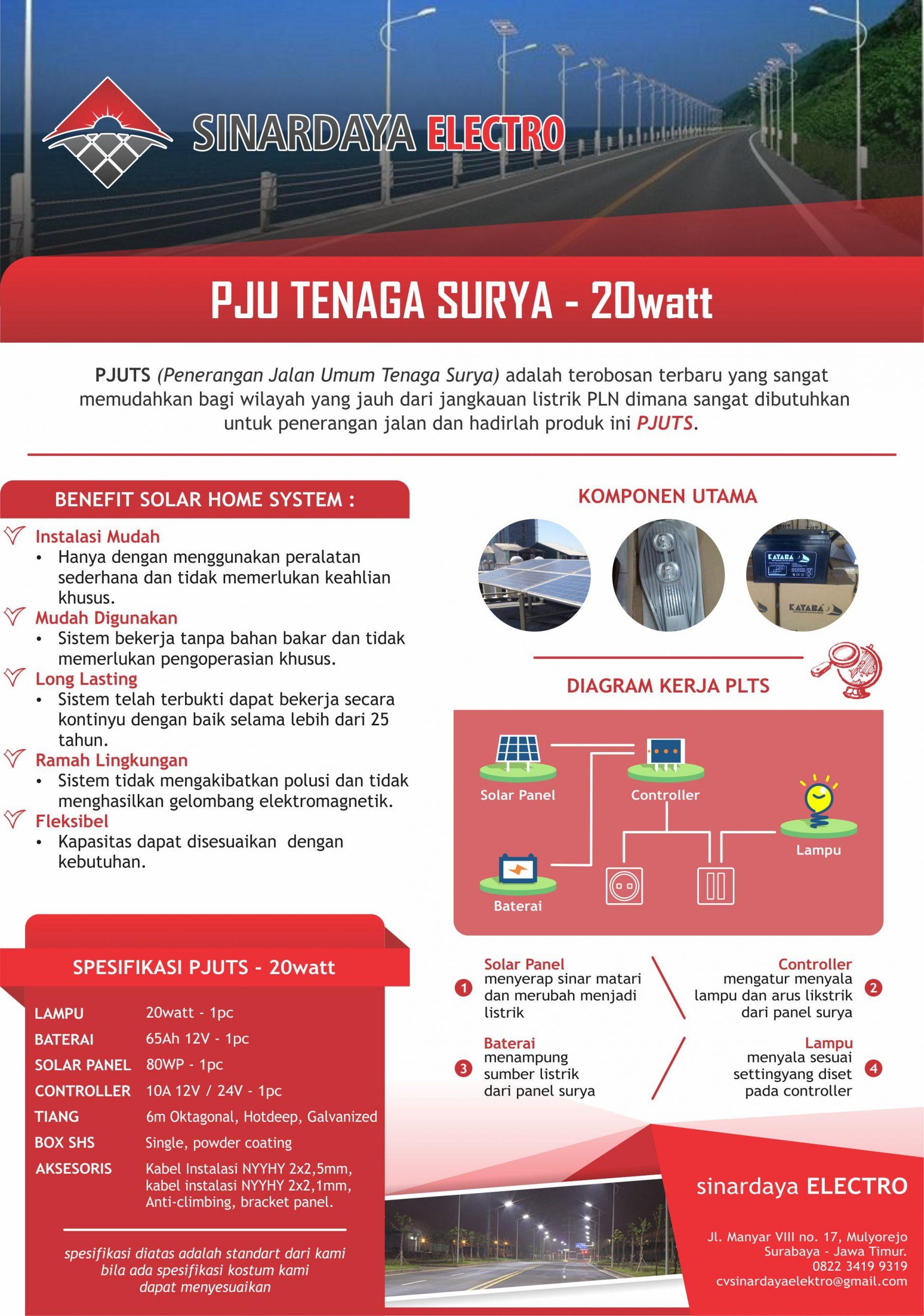 Lampu PJU Tenaga Surya Terbaru 2018 | Daftar Harga Terbaru 2020