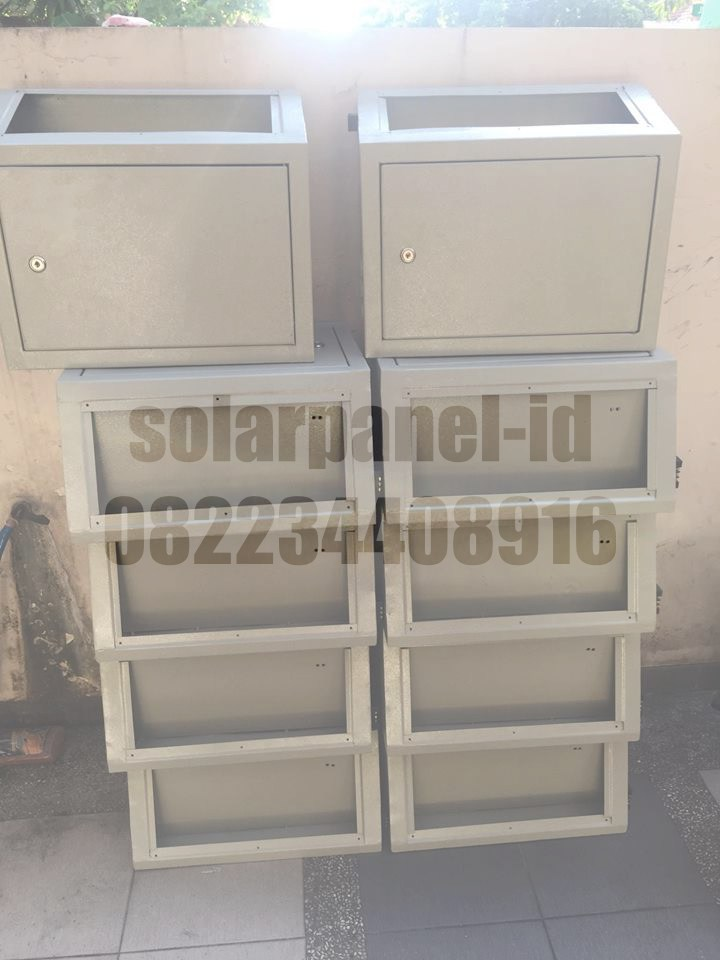 Box PJU solarcell Powder Coating Single dan Double Aki Harga Termurah