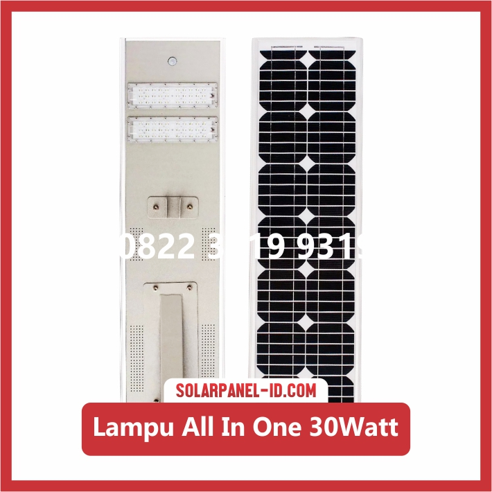Lampu PJU All In One 30w | Lampu LED PJU Tenaga Surya 30watt