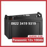 Aki Solar Cell Panasonic 100Ah 12v