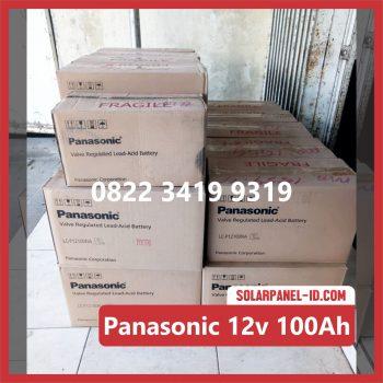 Panasonic baterai kering 12v 100Ah baterai pju tenaga surya