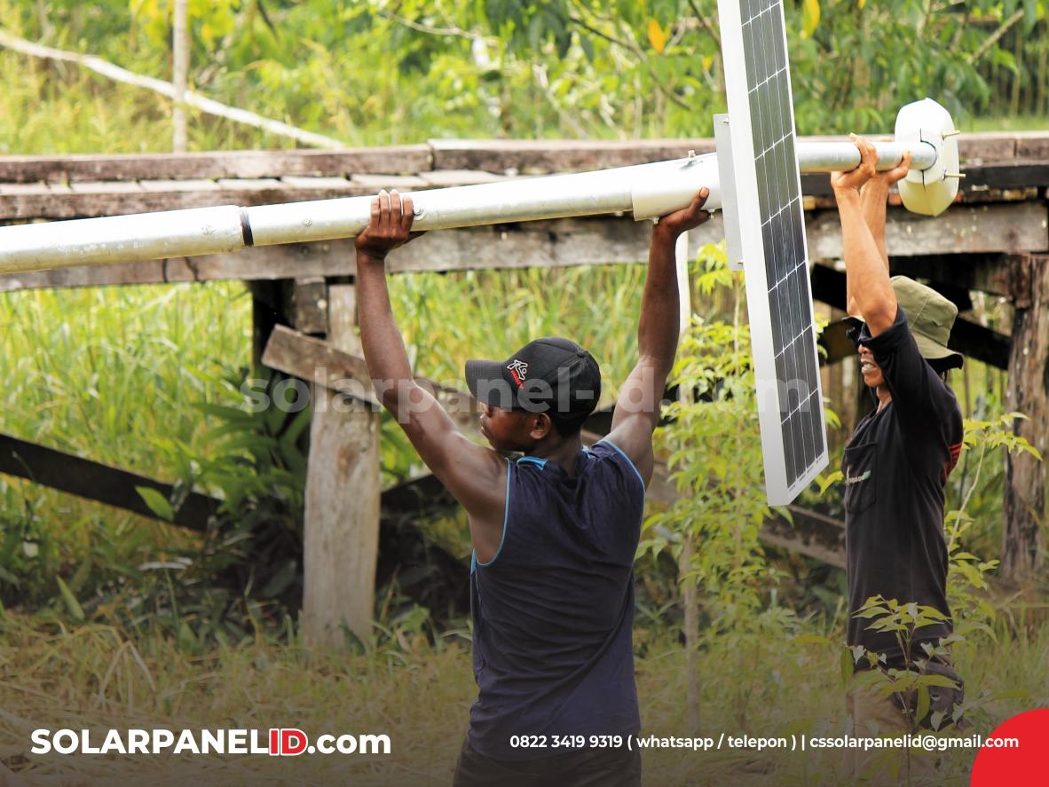 Lampu Jalan PJU Tenaga Surya & PJU Solarcell Papua