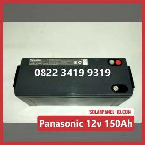 Panasonic baterai kering 12v 150Ah baterai pju tenaga surya