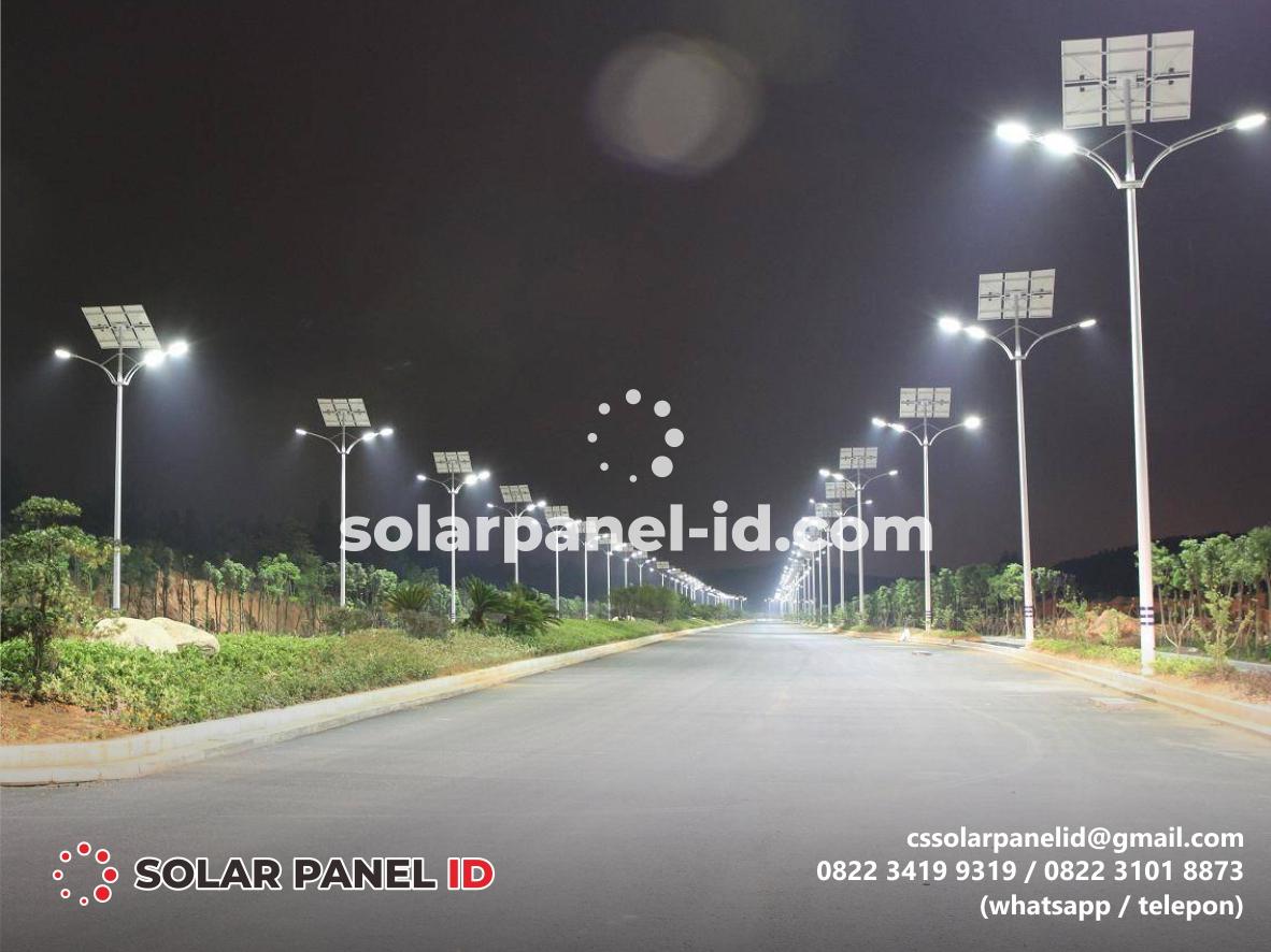 Harga PJU Solar Cell 80 watt satu set