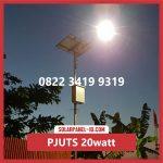 Paket Lampu Jalan Tenaga Surya 20watt – PJU Solarcell 20 watt | Penerangan Jalan Umum (PJU)