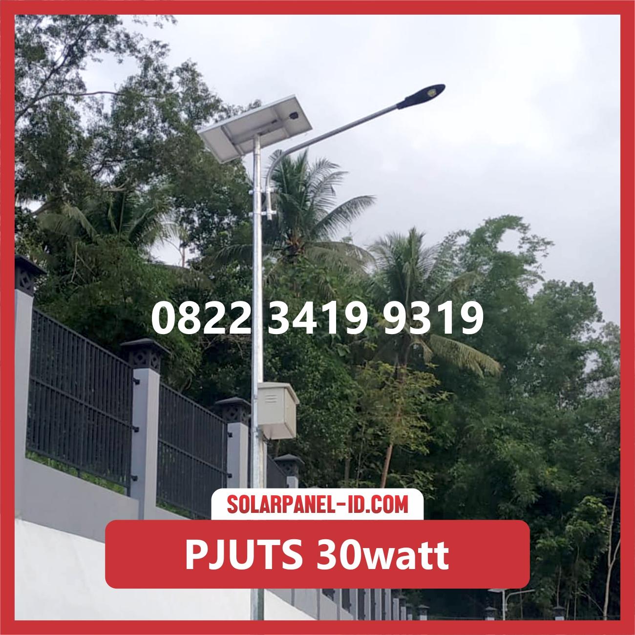 Paket Lampu Jalan Tenaga Surya 30watt – PJU Solarcell 30 watt | Penerangan Jalan Umum (PJU)
