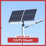 Paket Lampu Jalan Tenaga Surya 50watt – PJU Solarcell 50 watt | Penerangan Jalan Umum (PJU)