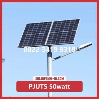 Paket PJU Tenaga Surya 50watt palu