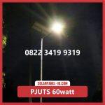Paket Lampu Jalan Tenaga Surya 60watt – PJU Solarcell 60 watt | Penerangan Jalan Umum (PJU)