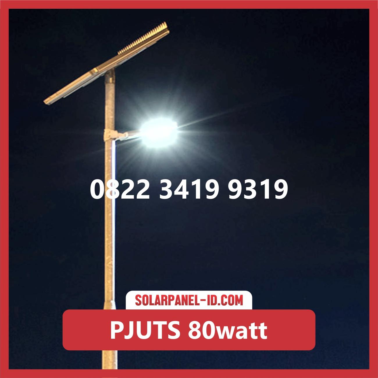 Paket Lampu Jalan Tenaga Surya 80watt – PJU Solarcell 80 watt | Penerangan Jalan Umum (PJU)