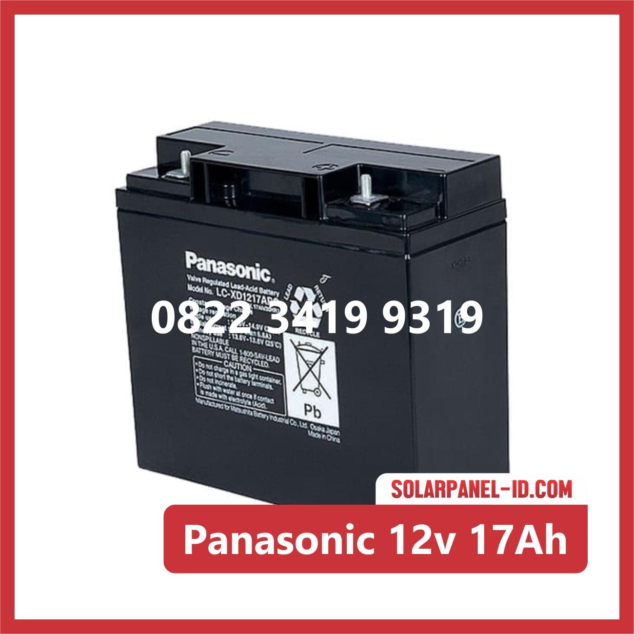 Aki Solar Cell Panasonic 12v 17Ah