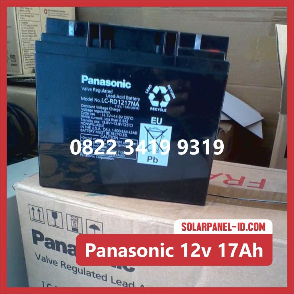Panasonic baterai kering 12v 17Ah baterai panel surya